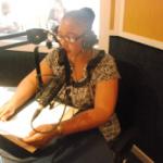 Mayor, Cllr LA Koloi, during a radio broadcast